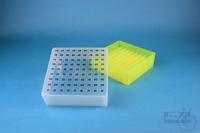 EPPi® Box 75 / 9x9 divider, neon-yellow, height 75 mm fix, alpha-num. ID...