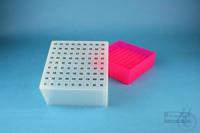 EPPi® Box 95 / 9x9 divider, neon-red/pink, height 95 mm fix, alpha-num. ID...