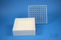 EPPi® Box 45 / 9x9 divider, white, height 45-53 mm variable, alpha-num. ID...