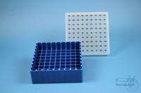 EPPi® Box 50 / 9x9 divider, blue, height 52 mm fix, alpha-num. ID code, PP....