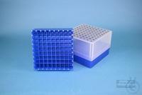 EPPi® Box 95 / 9x9 divider, neon-blue, height 95 mm fix, alpha-num. ID code,...