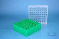 EPPi® Box 75 / 9x9 divider, green, height 75 mm fix, num. ID code, PP. EPPi®...