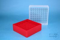 EPPi® Box 75 / 9x9 divider, red, height 75 mm fix, num. ID code, PP. EPPi®...