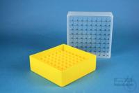 EPPi® Box 75 / 9x9 divider, yellow, height 75 mm fix, num. ID code, PP. EPPi®...