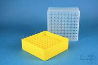 EPPi® Box 95 / 9x9 divider, yellow, height 95 mm fix, num. ID code, PP. EPPi®...