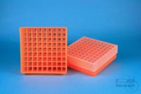 EPPi® Box 45 / 9x9 divider, neon-orange, height 45-53 mm variable, num. ID...