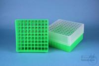 EPPi® Box 75 / 9x9 divider, neon-green, height 75 mm fix, num. ID code, PP....