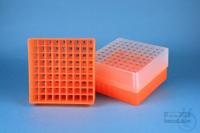 EPPi® Box 75 / 9x9 divider, neon-orange, height 75 mm fix, num. ID code, PP....