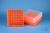 EPPi® Box 75 / 9x9 Fächer, neon-orange, Höhe 75 mm fix, num. Codierung, PP....