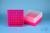 EPPi® Box 75 / 9x9 Fächer, neon-rot/pink, Höhe 75 mm fix, num. Codierung, PP....