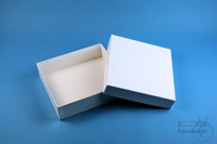 LIMA Box 50 long2 / 1x1 without divider, white, height 50 mm, fiberboard...