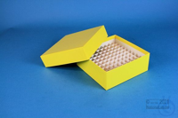 MIKE Box 50 / 10x10 divider, yellow, height 50 mm, fiberboard special. MIKE...