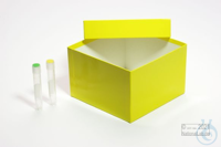 MIKE Box 100 / 1x1 without divider, green, height 100 mm, fiberboard...