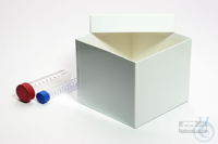 MIKE Box 130 / 1x1 without divider, white, height 130 mm, fiberboard special....