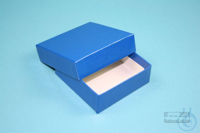 NANU Box 25 / 1x1 without divider, blue, height 25 mm, fiberboard special....