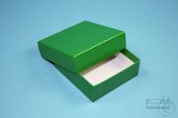 NANU Box 25 / 1x1 without divider, green, height 25 mm, fiberboard standard....
