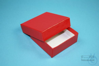 NANU Box 25 / 1x1 without divider, red, height 25 mm, fiberboard special....