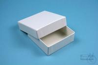 NANU Box 25 / 1x1 without divider, white, height 25 mm, fiberboard standard....