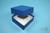 NANU Box 32 / 1x1 ohne Facheinteilung, blau, Höhe 32 mm, Karton standard....