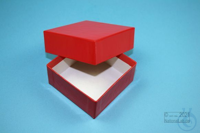 NANU Box 32 / 1x1 without divider, red, height 32 mm, fiberboard special....