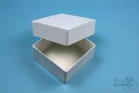 NANU Box 32 / 1x1 without divider, white, height 32 mm, fiberboard standard....