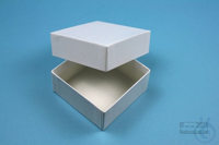 NANU Box 32 / 1x1 without divider, white, height 32 mm, fiberboard special....
