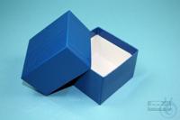 NANU Box 50 / 1x1 without divider, blue, height 50 mm, fiberboard standard....