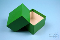 NANU Box 50 / 1x1 without divider, green, height 50 mm, fiberboard special....
