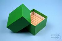 NANU Box 50 / 5x5 divider, green, height 50 mm, fiberboard special. NANU Box...