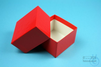 NANU Box 50 / 1x1 without divider, red, height 50 mm, fiberboard standard....