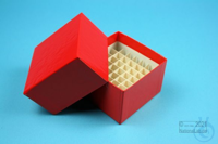 NANU Box 50 / 5x5 divider, red, height 50 mm, fiberboard standard. NANU Box...