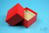 NANU Box 50 / 5x5 divider, red, height 50 mm, fiberboard special. NANU Box 50...