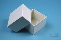NANU Box 50 / 1x1 without divider, white, height 50 mm, fiberboard standard....