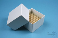 NANU Box 50 / 5x5 divider, white, height 50 mm, fiberboard special. NANU Box...