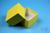 NANU Box 50 / 1x1 ohne Facheinteilung, gelb, Höhe 50 mm, Karton standard....