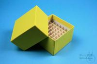 NANU Box 50 / 5x5 divider, yellow, height 50 mm, fiberboard special. NANU Box...