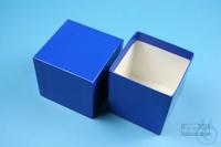 NANU Box 75 / 1x1 without divider, blue, height 75 mm, fiberboard standard....