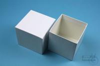 NANU Box 75 / 1x1 without divider, white, height 75 mm, fiberboard standard....
