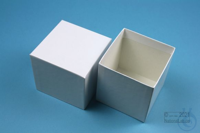 NANU Box 75 / 1x1 without divider, white, height 75 mm, fiberboard special....