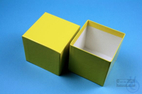 NANU Box 75 / 1x1 without divider, yellow, height 75 mm, fiberboard standard....