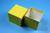 NANU Box 75 / 1x1 ohne Facheinteilung, gelb, Höhe 75 mm, Karton standard....