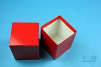 NANU Box 100 / 1x1 without divider, red, height 100 mm, fiberboard special....