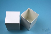 NANU Box 100 / 1x1 without divider, white, height 100 mm, fiberboard...