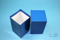 NANU Box 130 / 1x1 without divider, blue, height 130 mm, fiberboard standard....