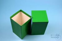 NANU Box 130 / 1x1 without divider, green, height 130 mm, fiberboard...
