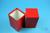 NANU Box 130 / 1x1 ohne Facheinteilung, rot, Höhe 130 mm, Karton standard....