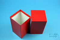 NANU Box 130 / 1x1 without divider, red, height 130 mm, fiberboard special....