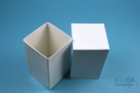 NANU Box 130 / 1x1 without divider, white, height 130 mm, fiberboard...