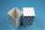 NANU Box 130 / 1x1 ohne Facheinteilung, weiss, Höhe 130 mm, Karton standard....