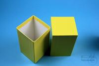 NANU Box 130 / 1x1 without divider, yellow, height 130 mm, fiberboard...